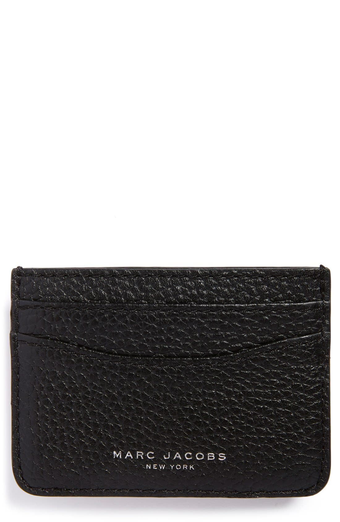 'Gotham' Leather Card Case,                         Main,                         color, Black