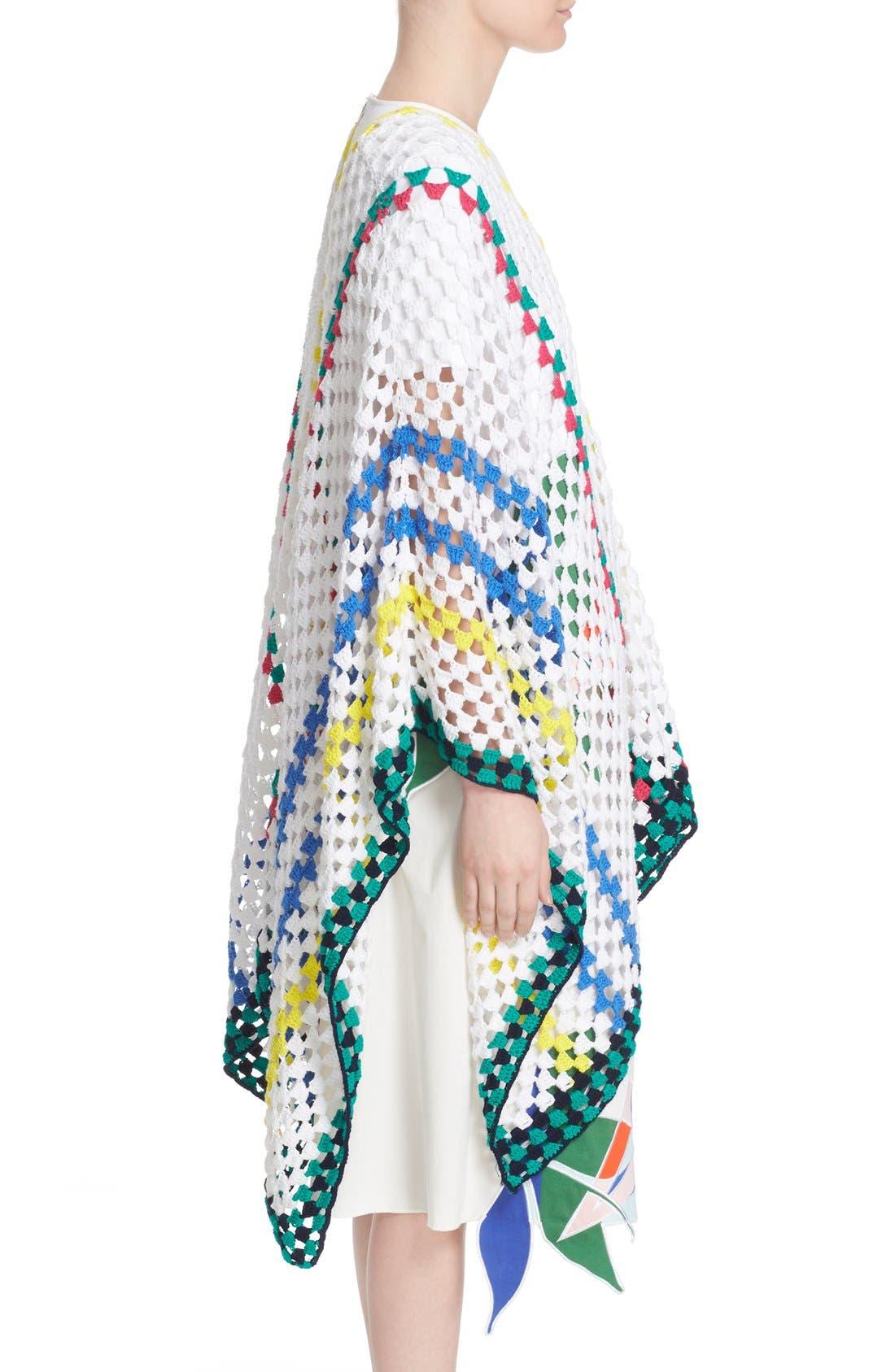 Alternate Image 5  - Mira Mikati Stripe Crochet Poncho