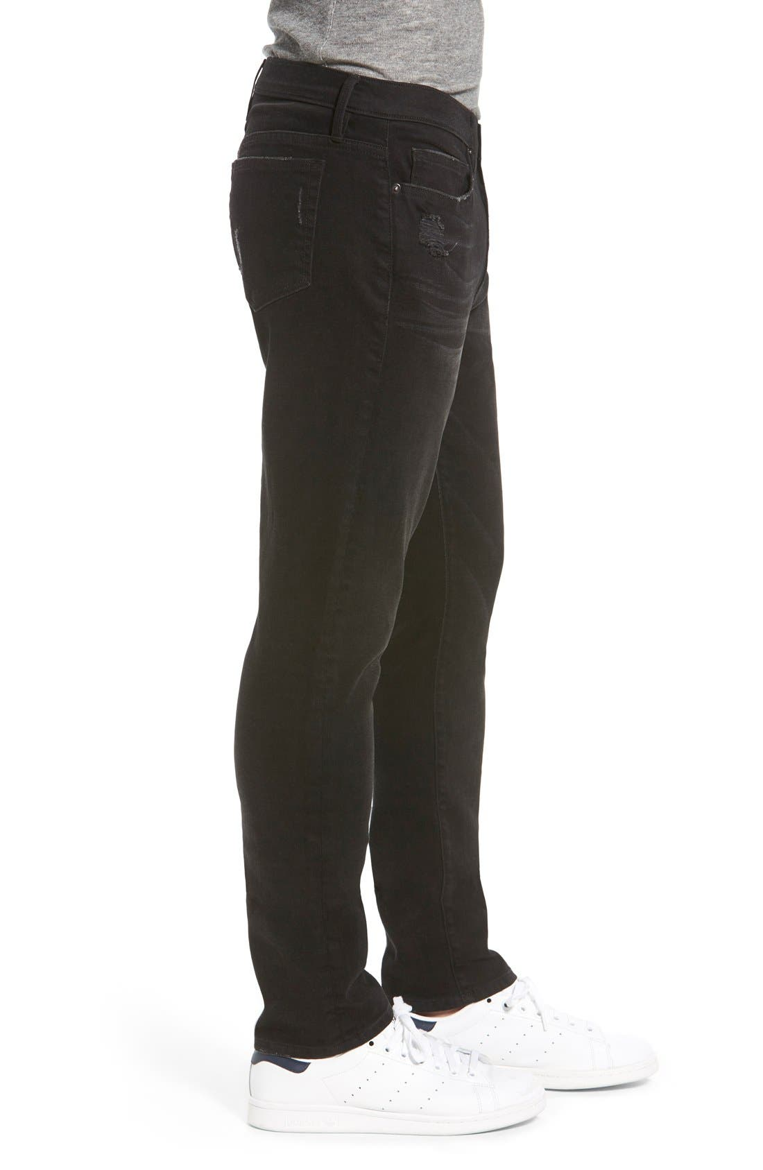 'L'Homme' Slim Fit Jeans,                             Alternate thumbnail 3, color,                             Chimney Rock