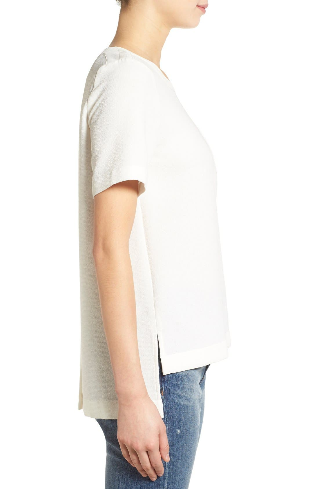 Alternate Image 3  - Madewell Short Sleeve Button Back Top