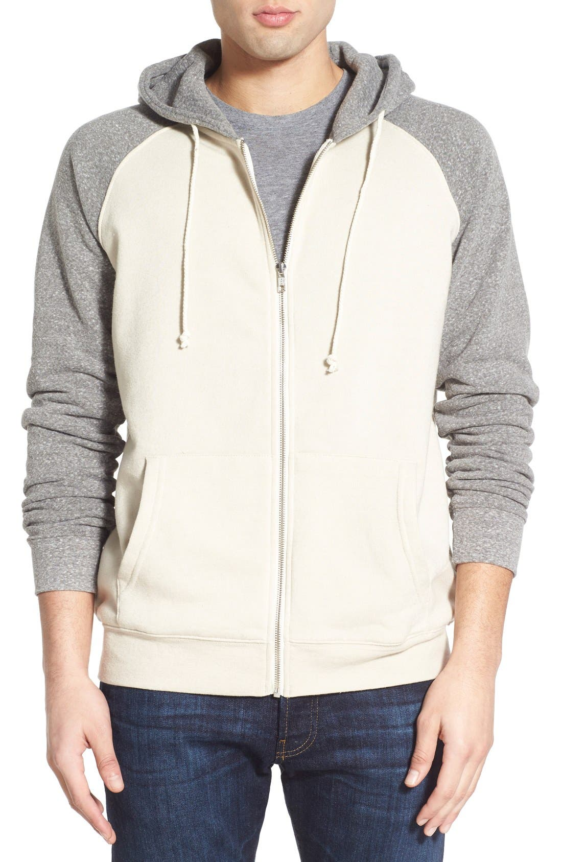 Main Image - Threads for Thought Raglan Hoodie