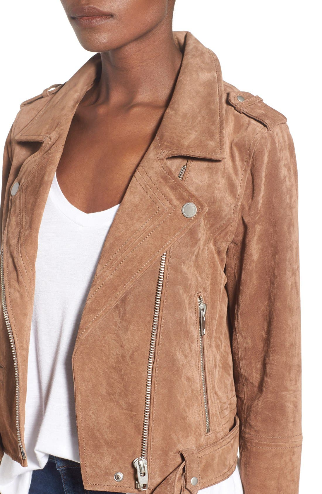 Alternate Image 5  - BLANKNYC Morning Suede Moto Jacket