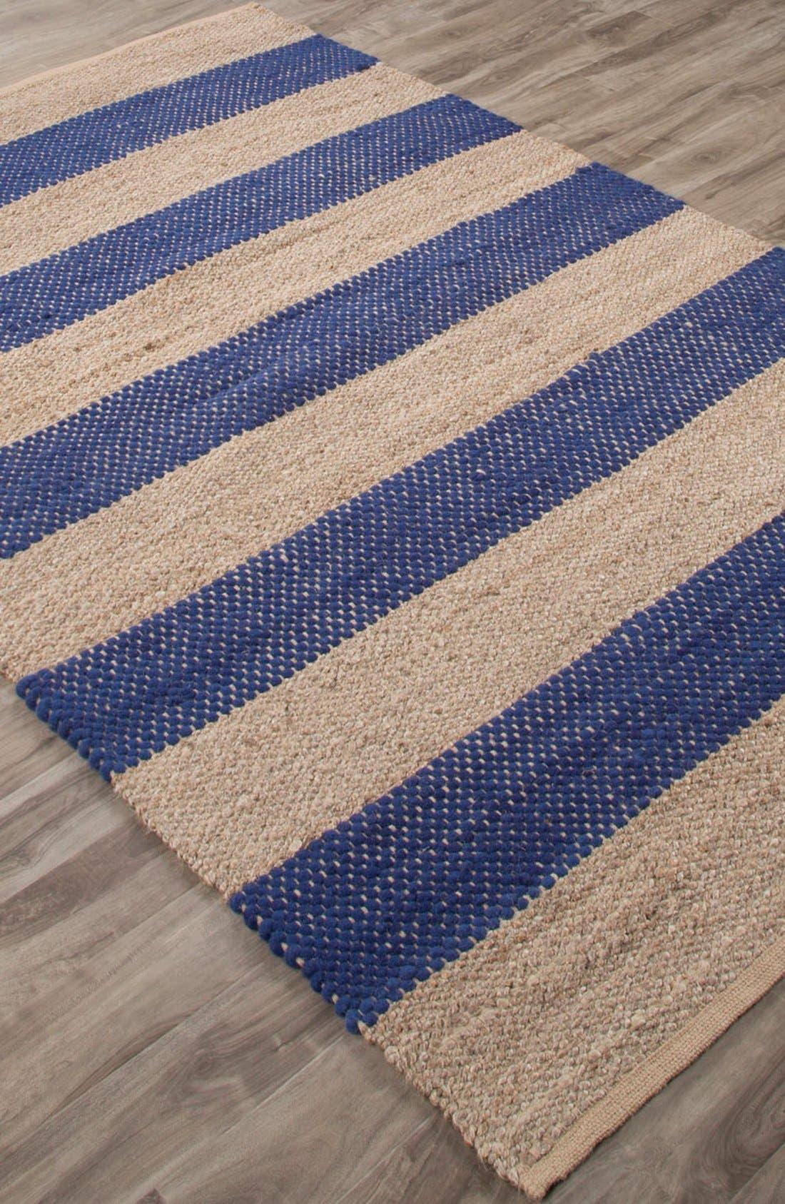 'nolita stripes' rug,                             Alternate thumbnail 3, color,                             Blue/ Natural