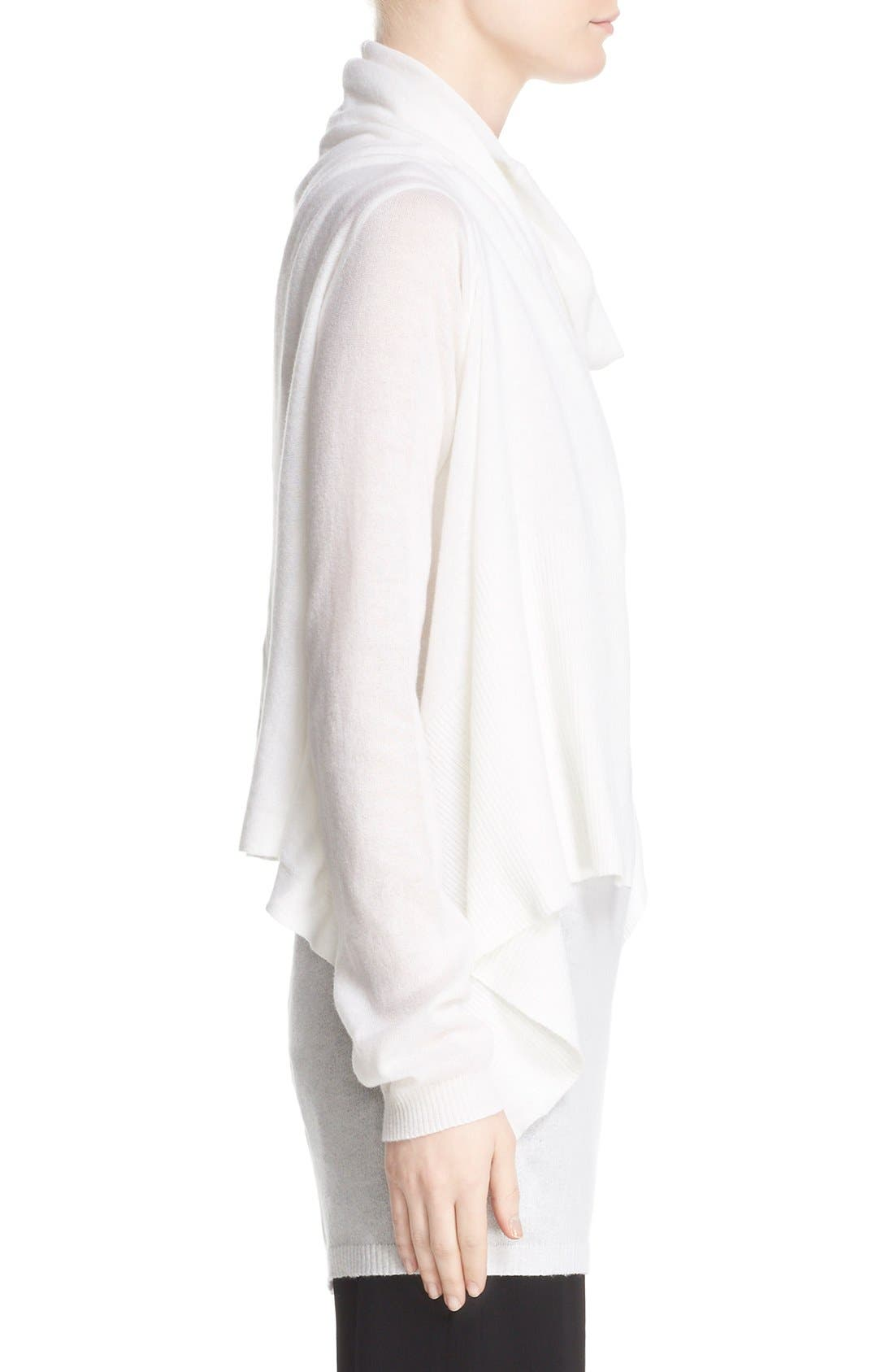 Alternate Image 5  - Rick Owens Drape Front Cotton & Cashmere Cardigan
