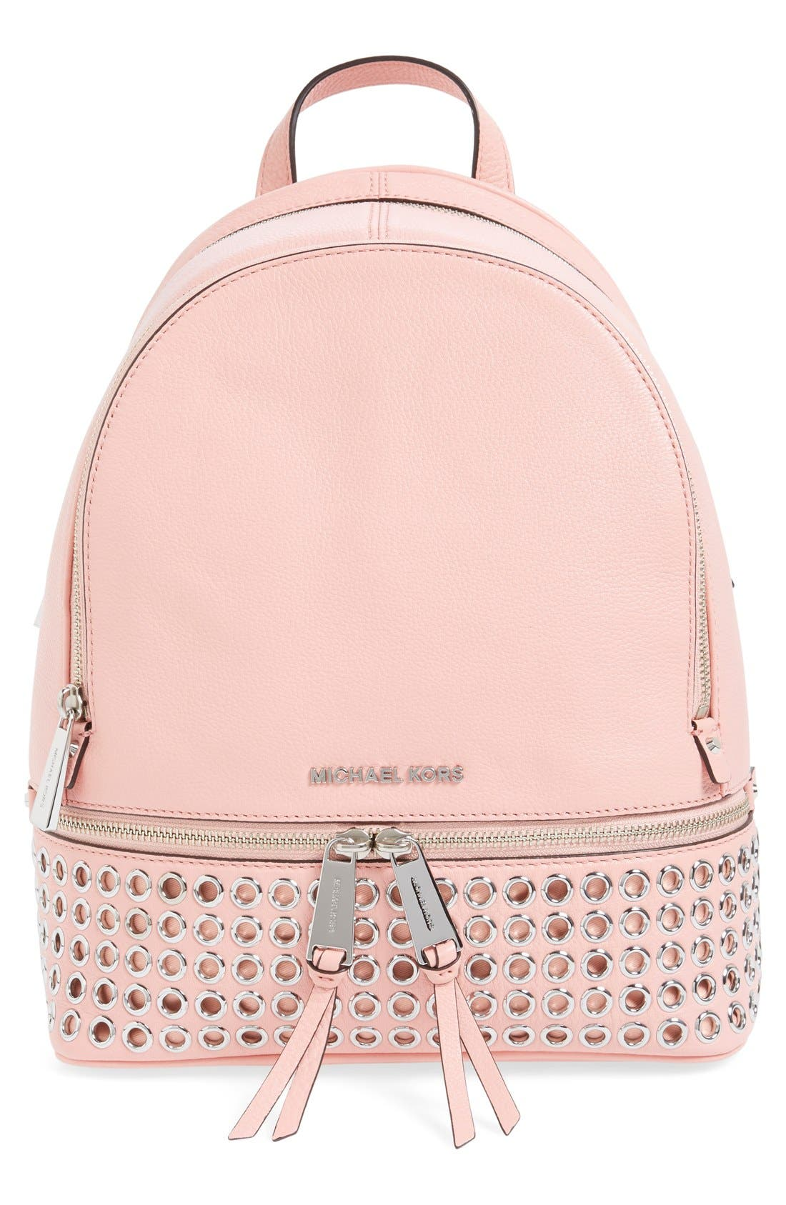 Main Image - MICHAEL Michael Kors 'Rhea - Zip Grommet' Leather Backpack