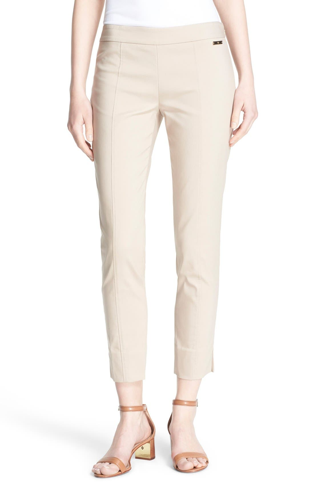 Alternate Image 1 Selected - Tory Burch 'Callie' Seamed Crop Pants