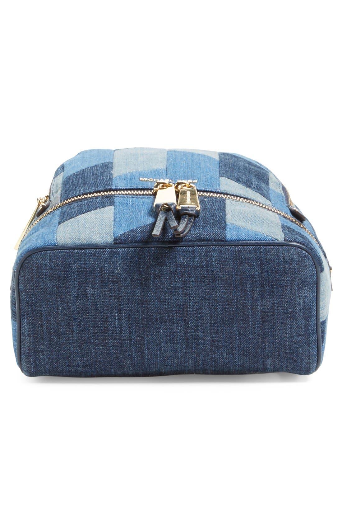 Alternate Image 6  - Michael Kors 'Small Rhea Zip' Denim Backpack