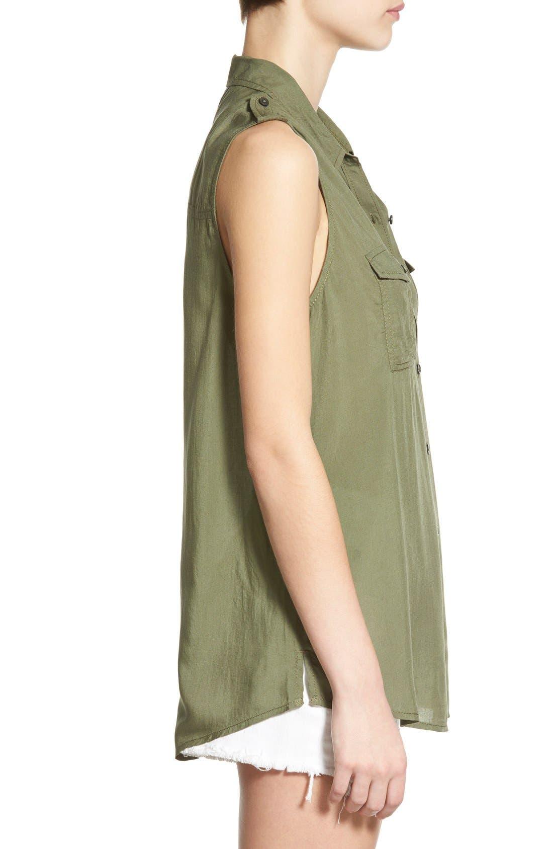 Alternate Image 3  - BP. Sleeveless Safari Shirt