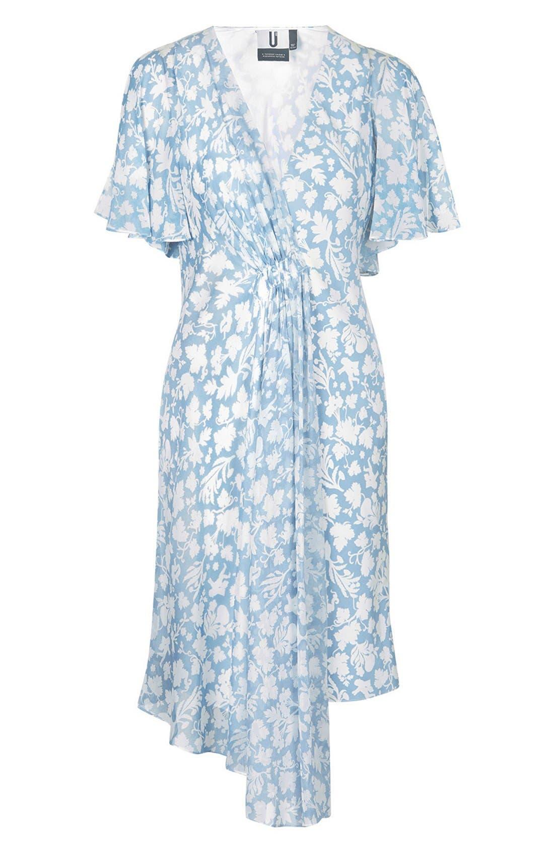 Alternate Image 5  - Topshop Unique 'Belfour' Floral Print Silk Dress