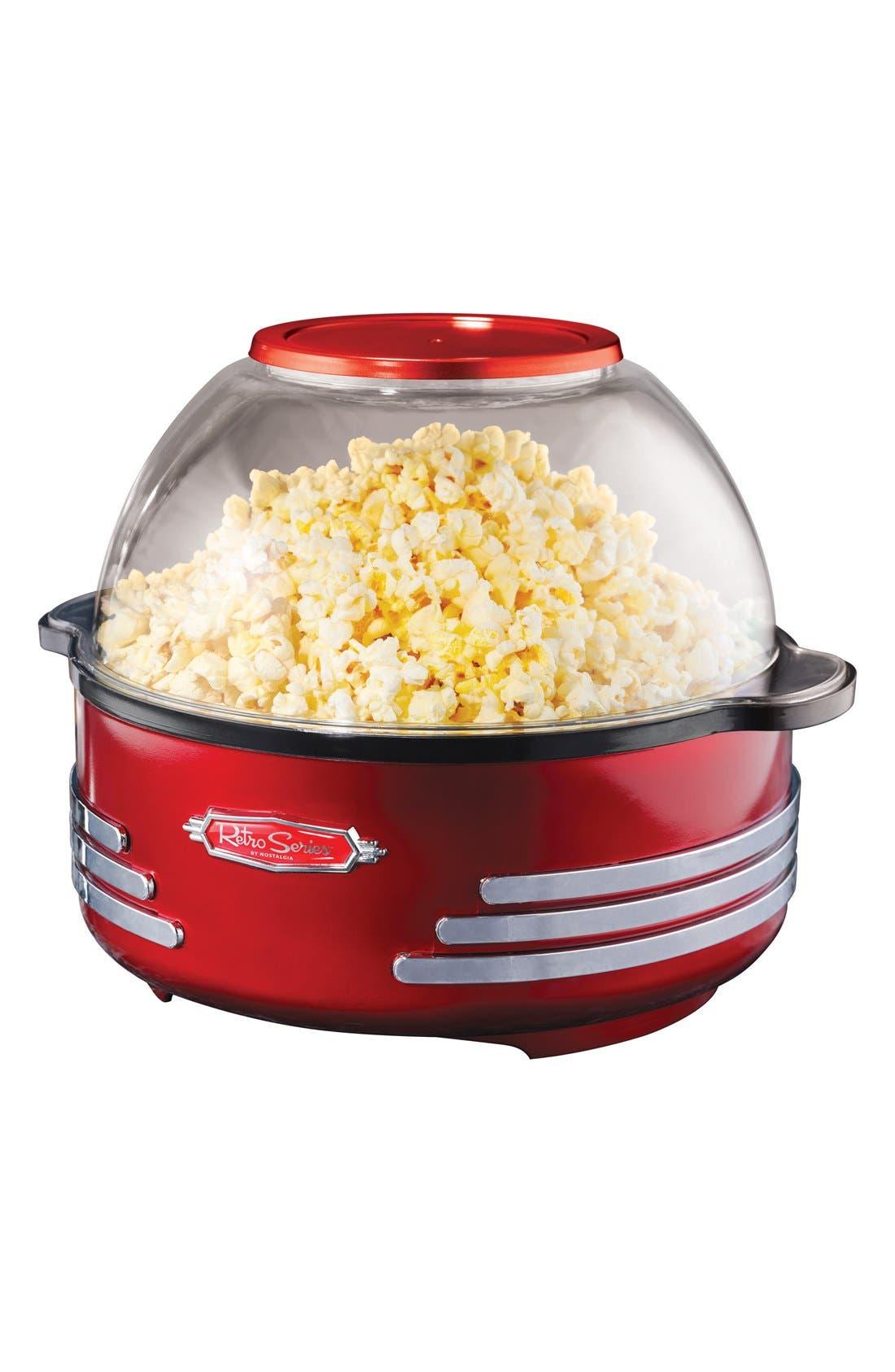 Nostalgia Electronics Retro Stirring Popcorn Maker,                         Main,                         color, Red
