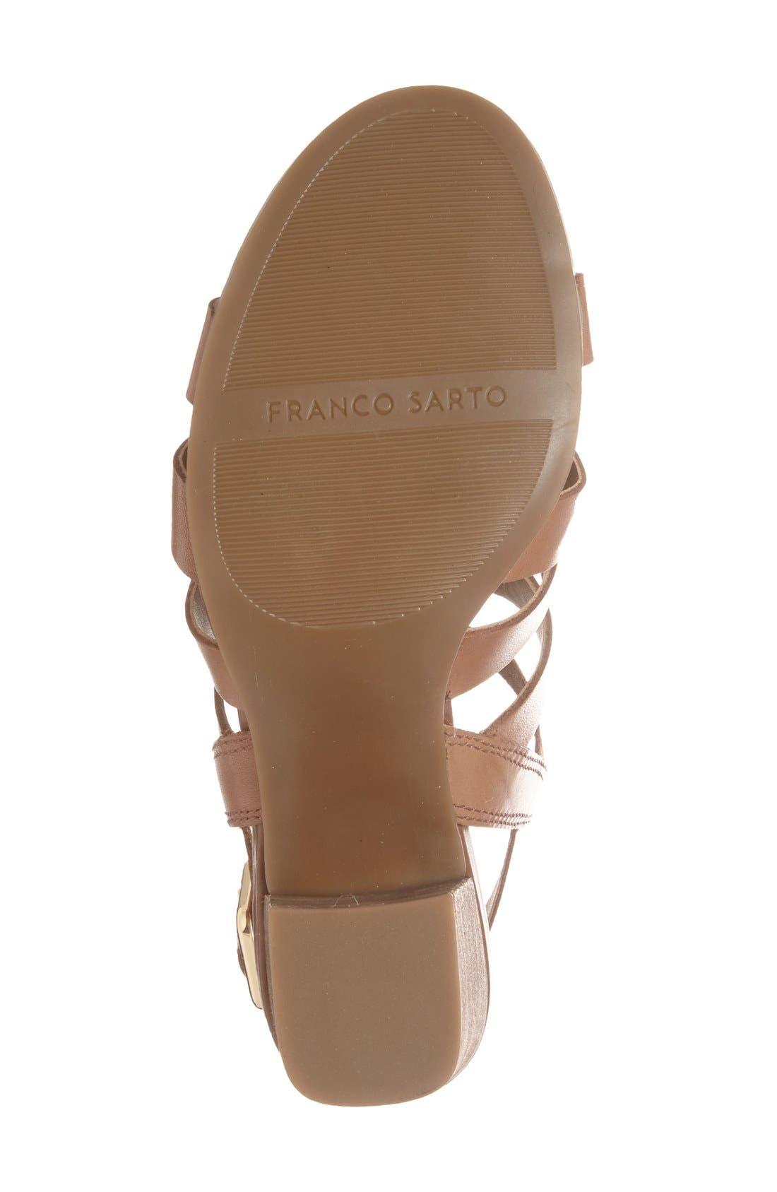 Alternate Image 4  - Franco Sarto 'Montage' Leather Sandal (Women)