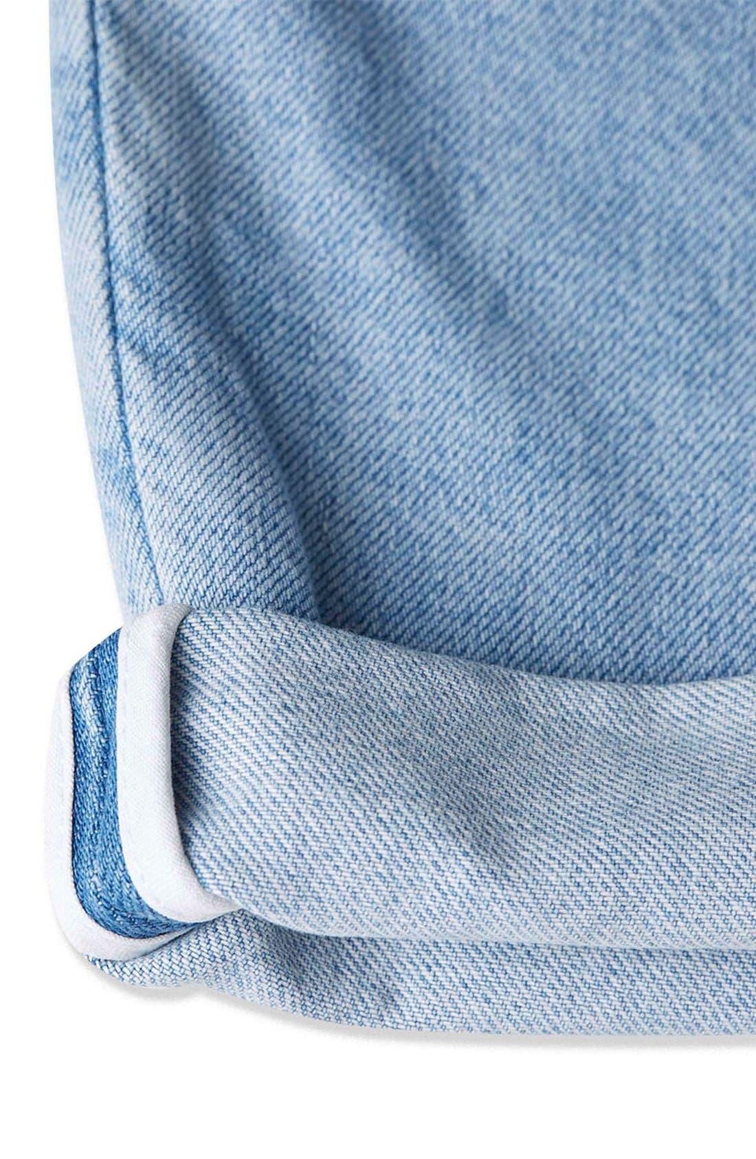 Alternate Image 6  - Topshop Boutique Wide Leg Jeans