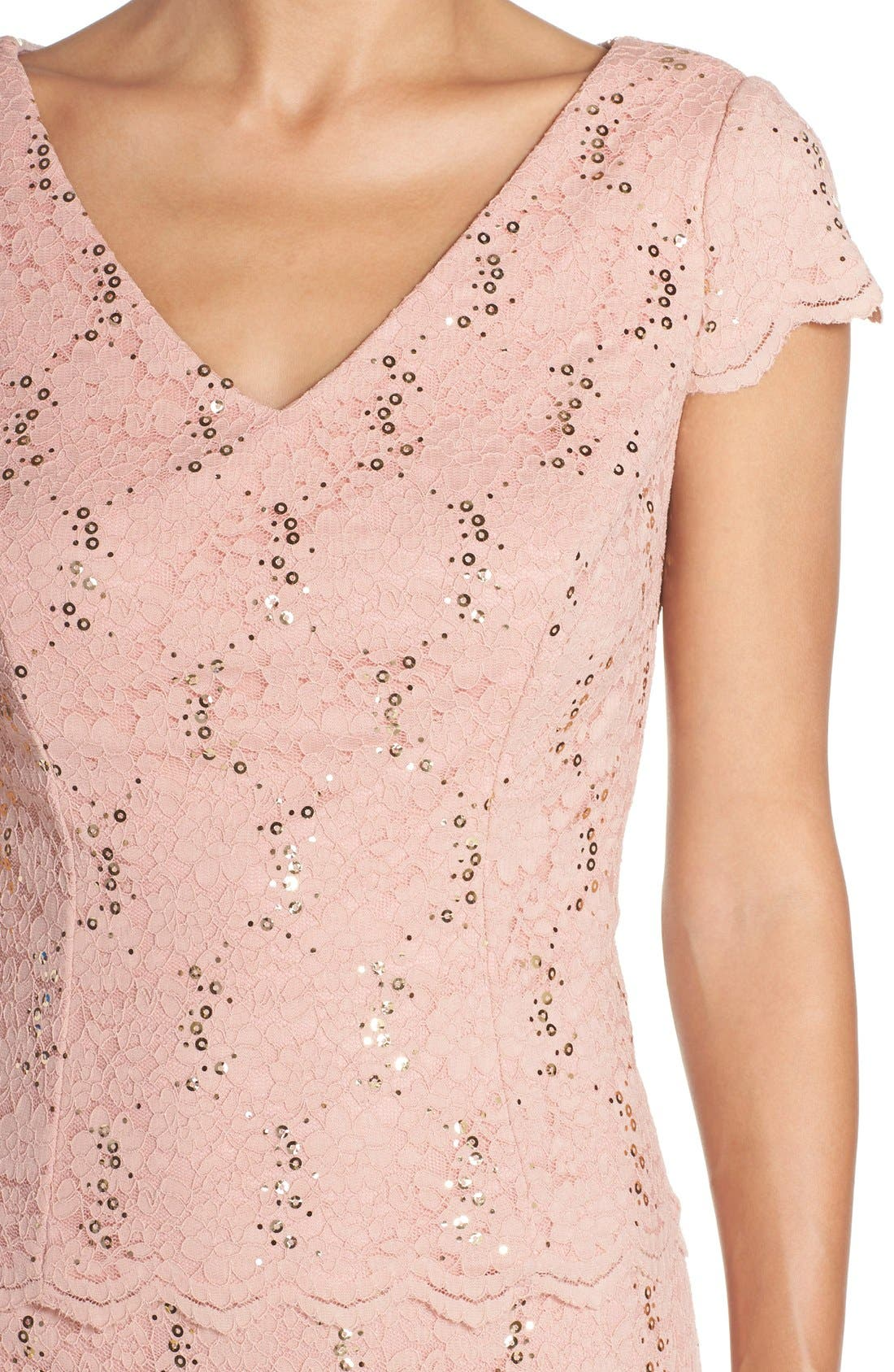 Alternate Image 5  - Alex Evenings Embellished Lace Sheath Dress