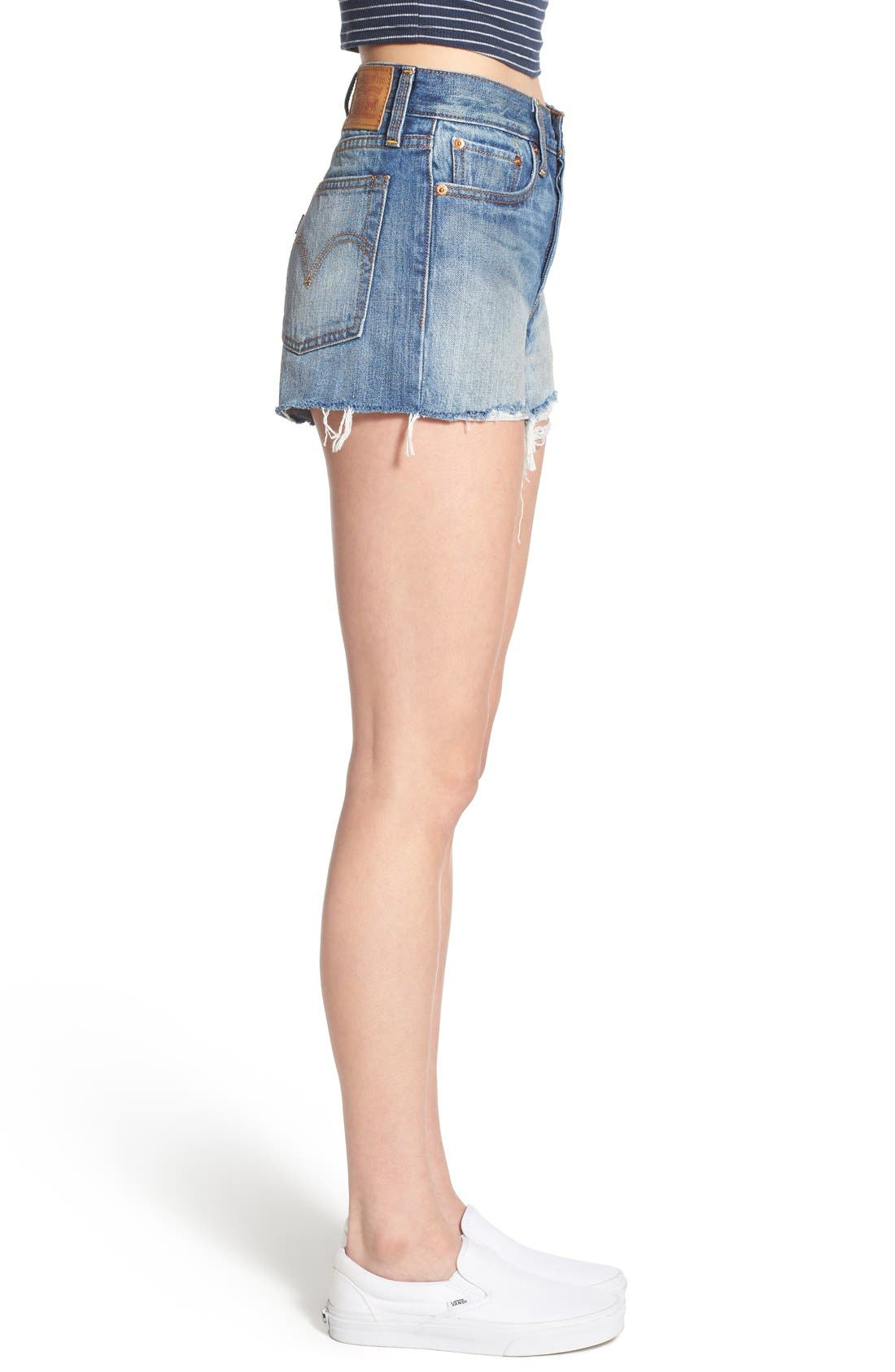 Alternate Image 3  - Levi's® High Rise Cutoff Shorts