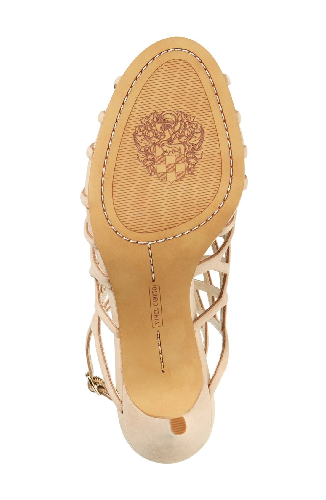 'Paxton' Slingback Sandal,                             Alternate thumbnail 4, color,                             Nude Leather