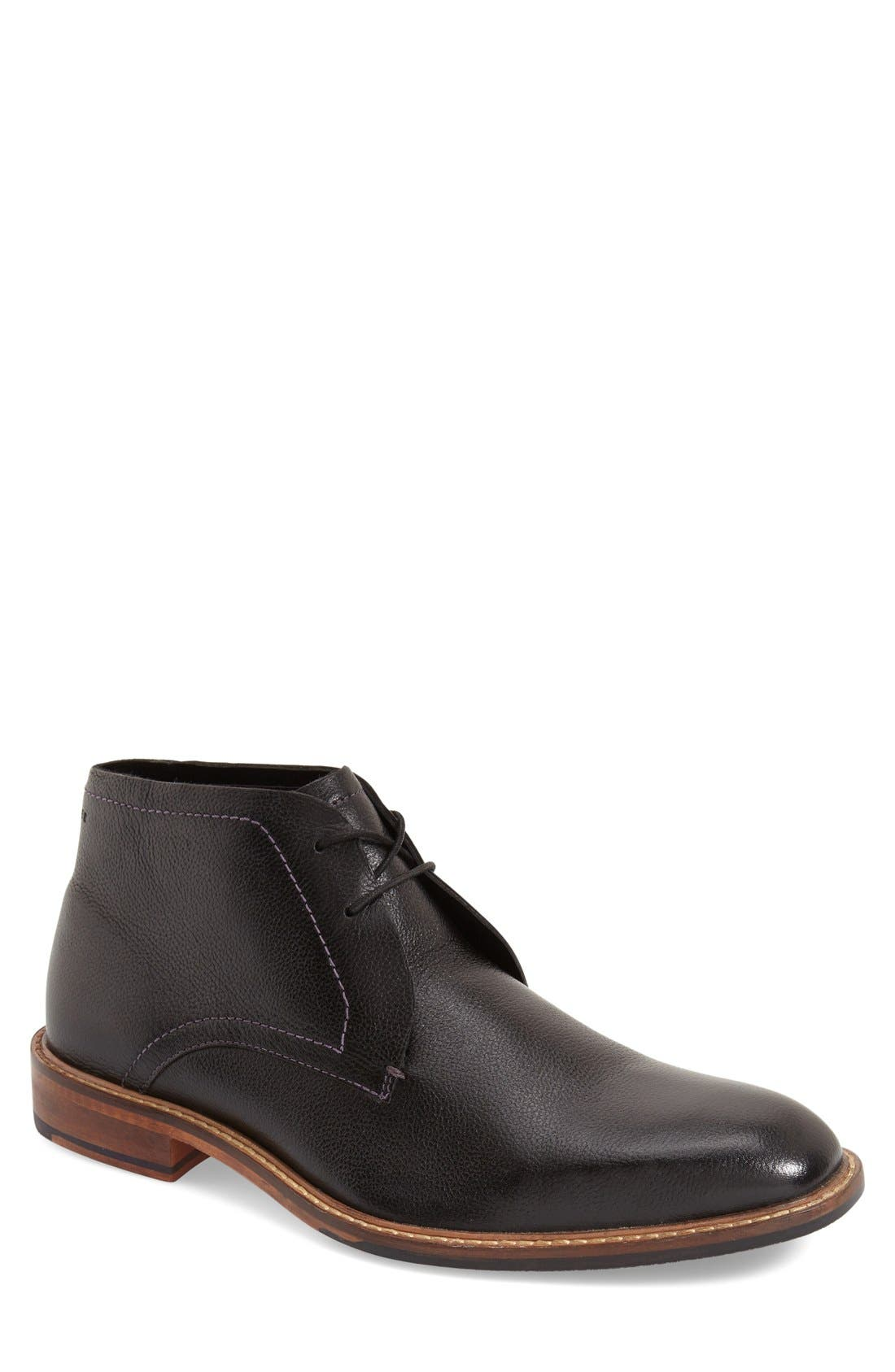 'Torsdi 4' Chukka Boot,                             Main thumbnail 1, color,                             Black Leather