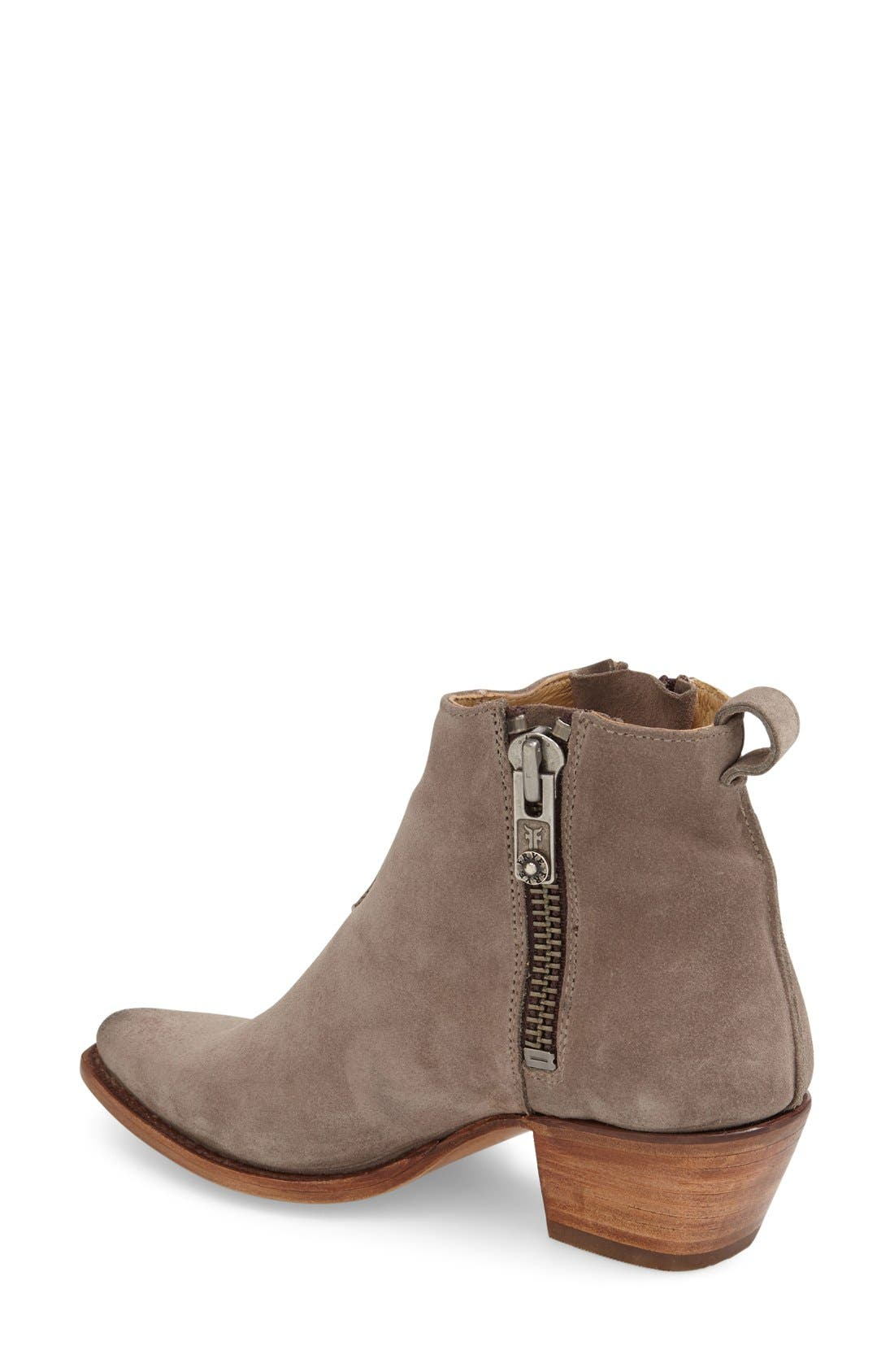 'Sacha' Washed Leather Ankle Boot,                             Alternate thumbnail 2, color,                             Dark Grey Suede