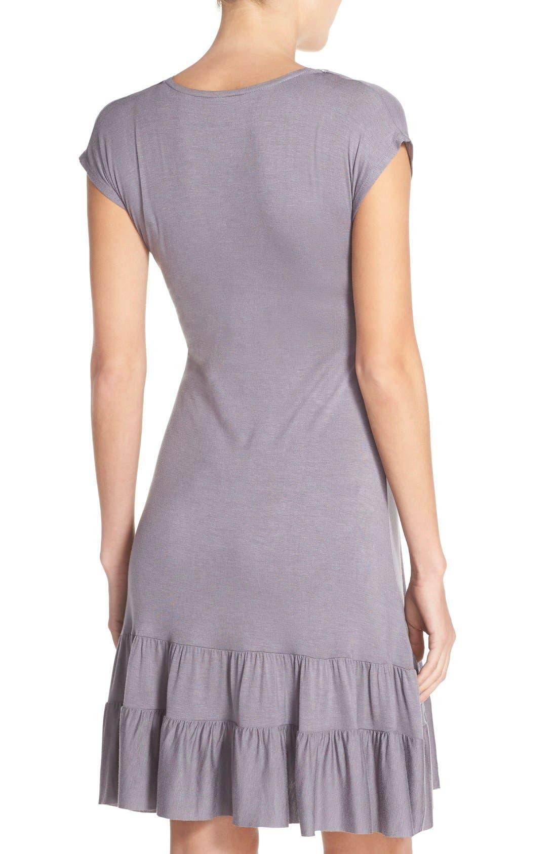 Ruffle Nursing Dress,                             Alternate thumbnail 2, color,                             Gunmetal