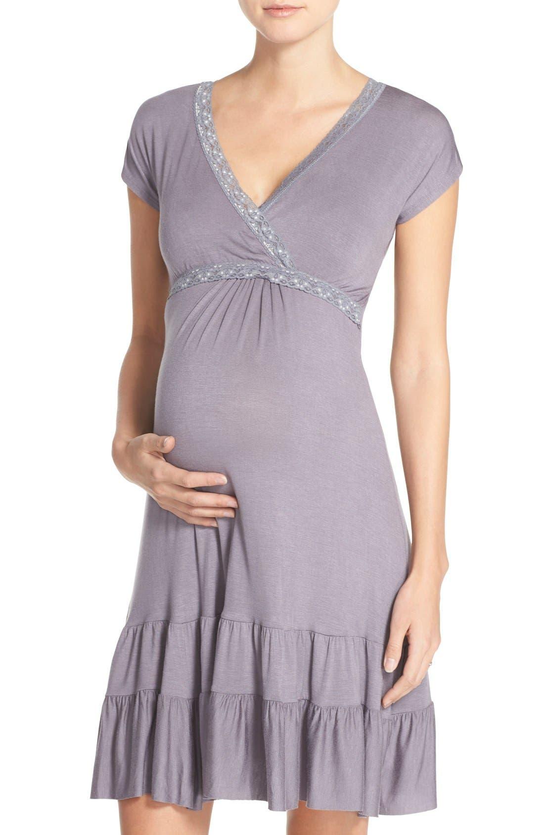 Alternate Image 1 Selected - Belabumbum Ruffle Nursing Dress