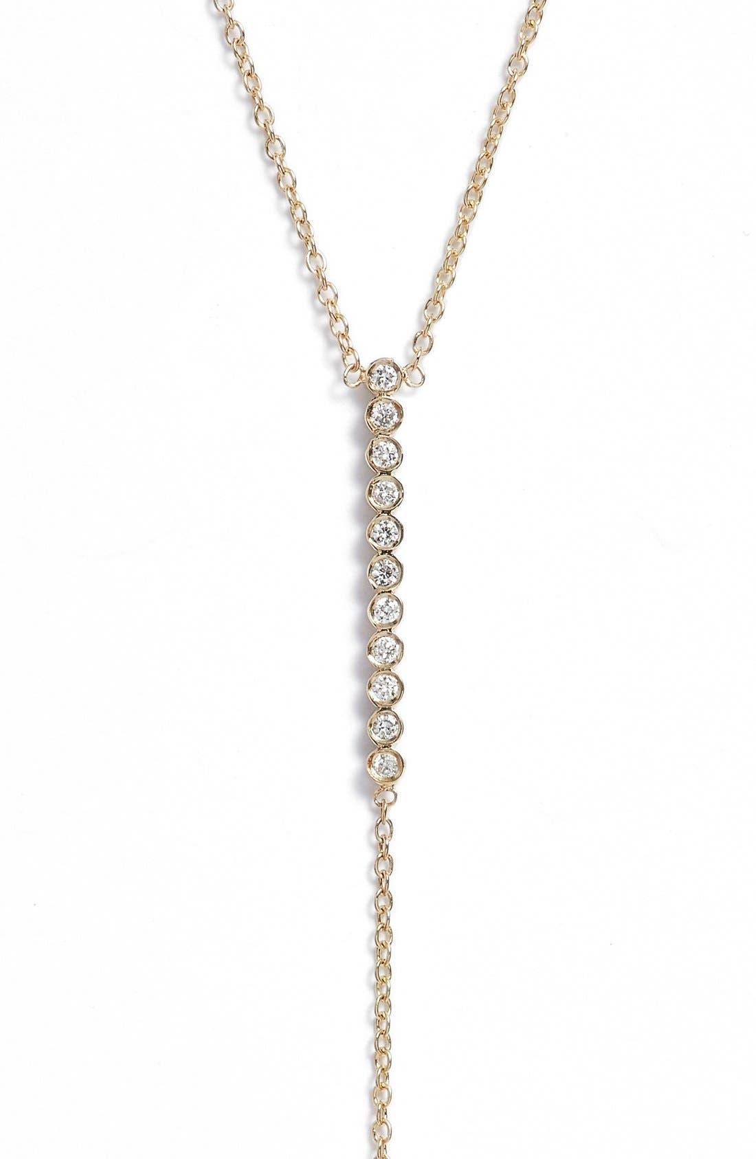 ZOË CHICCO Diamond Bar Y-Necklace