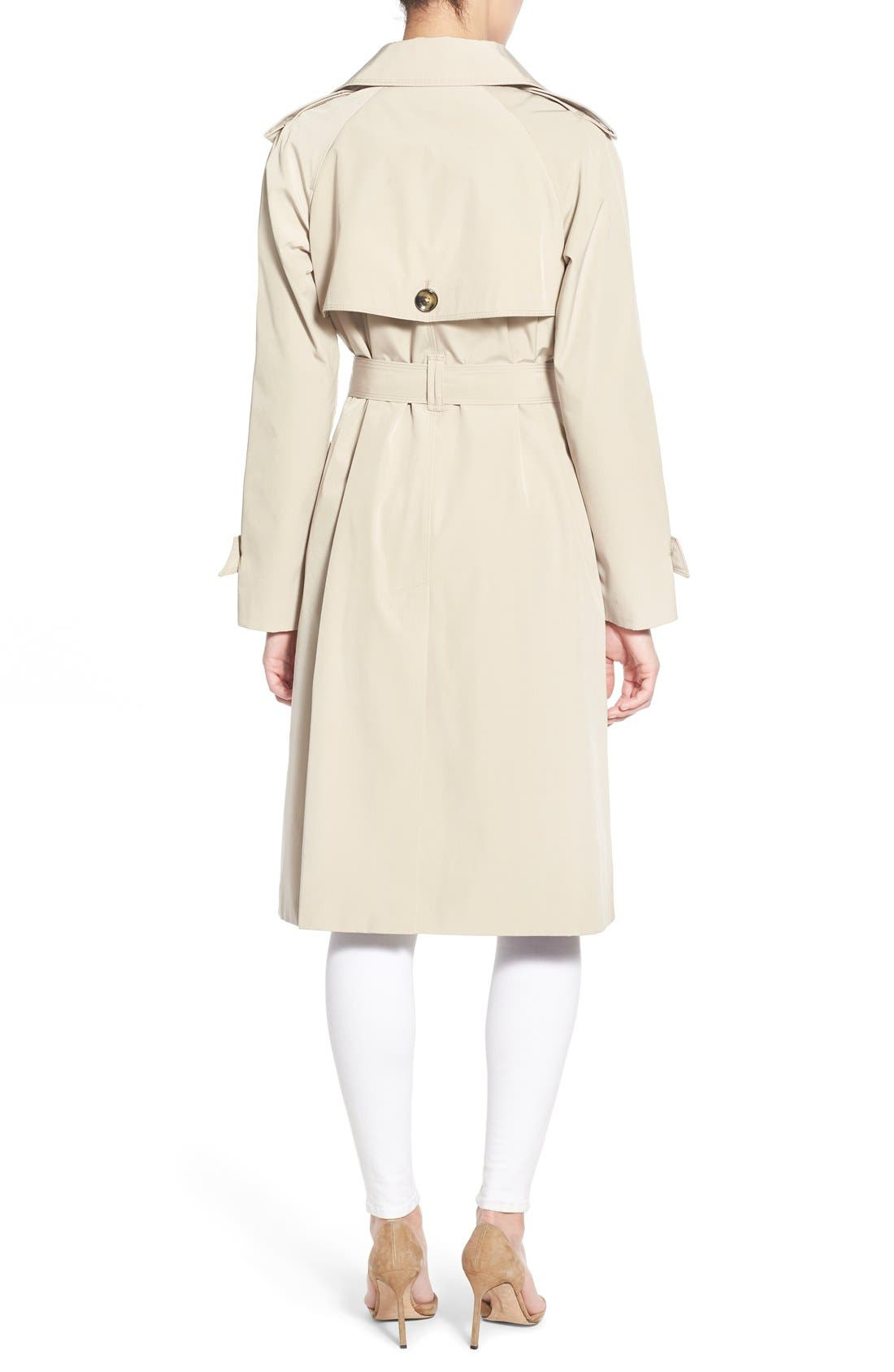 Alternate Image 2  - London Fog Double Breasted Trench Coat (Regular & Petite)