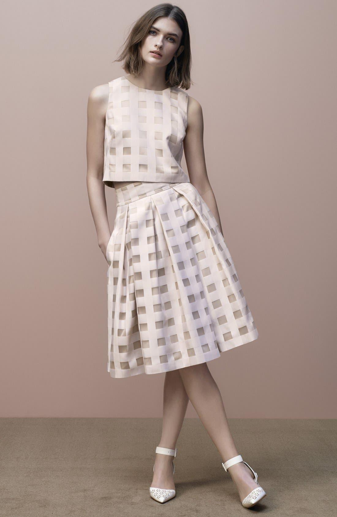 Alternate Image 6  - Eliza J Check Satin Two-Piece Dress