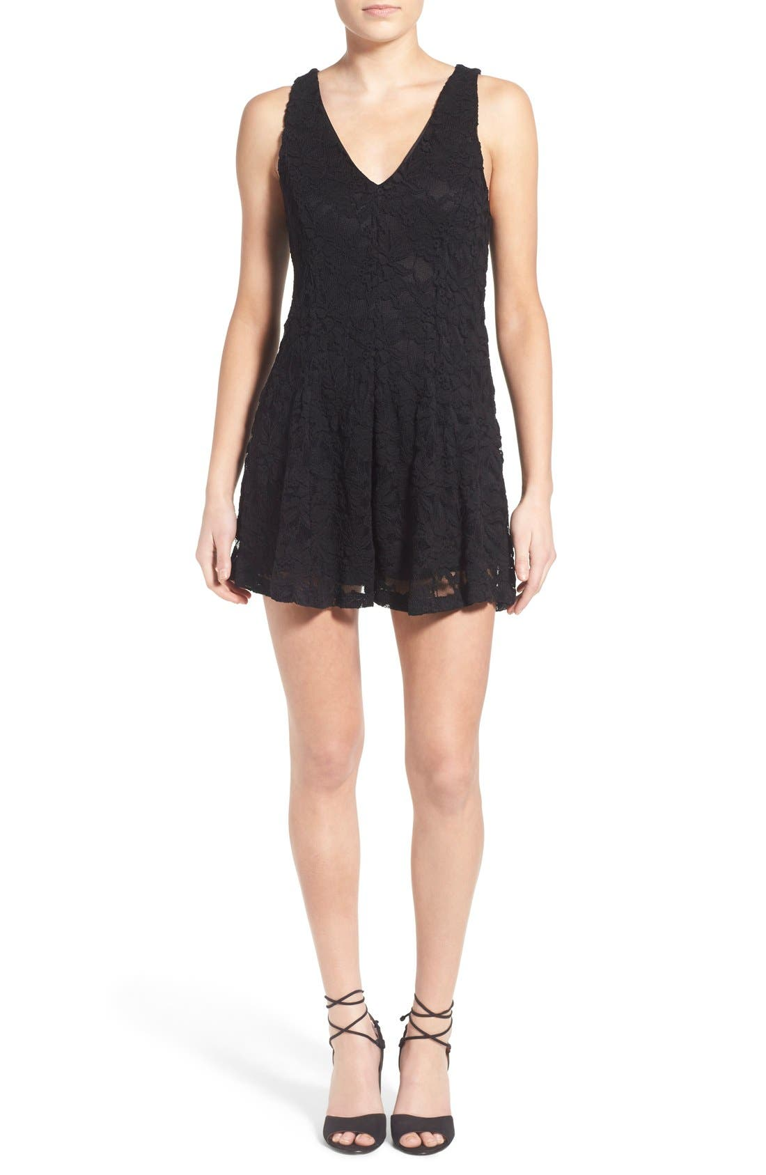 Alternate Image 1 Selected - Lush Lace Romper