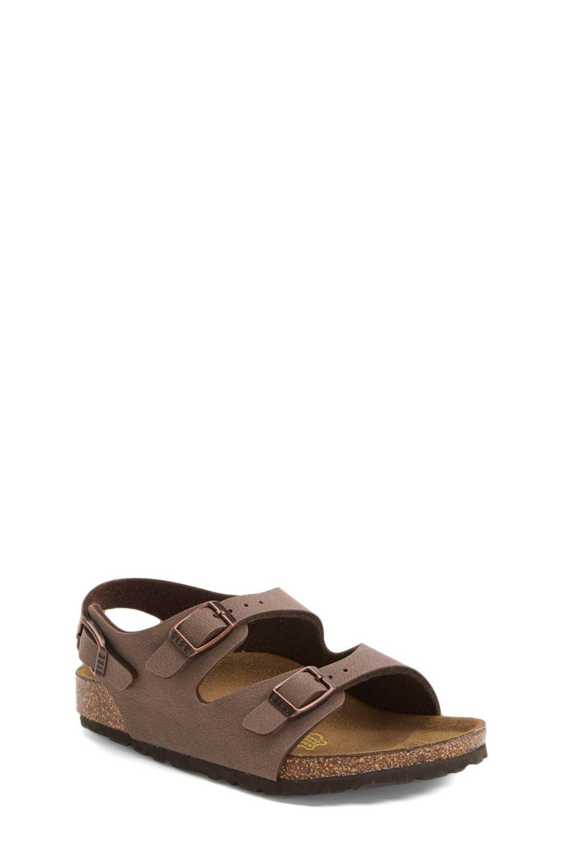 'Roma' Sandal,                         Main,                         color, Mocha