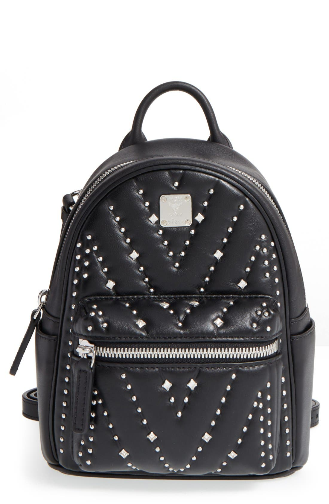 Alternate Image 1 Selected - MCM 'X Mini Diamond Disco' Leather Backpack