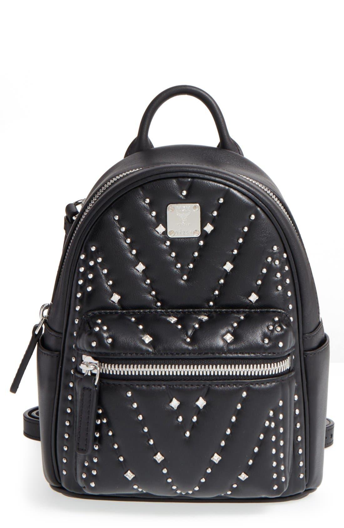 Main Image - MCM 'X Mini Diamond Disco' Leather Backpack