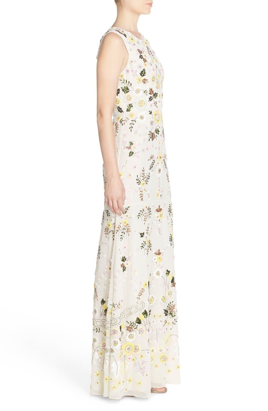 Alternate Image 3  - Needle & Thread 'Sunflower' Embellished Chiffon Mermaid Gown