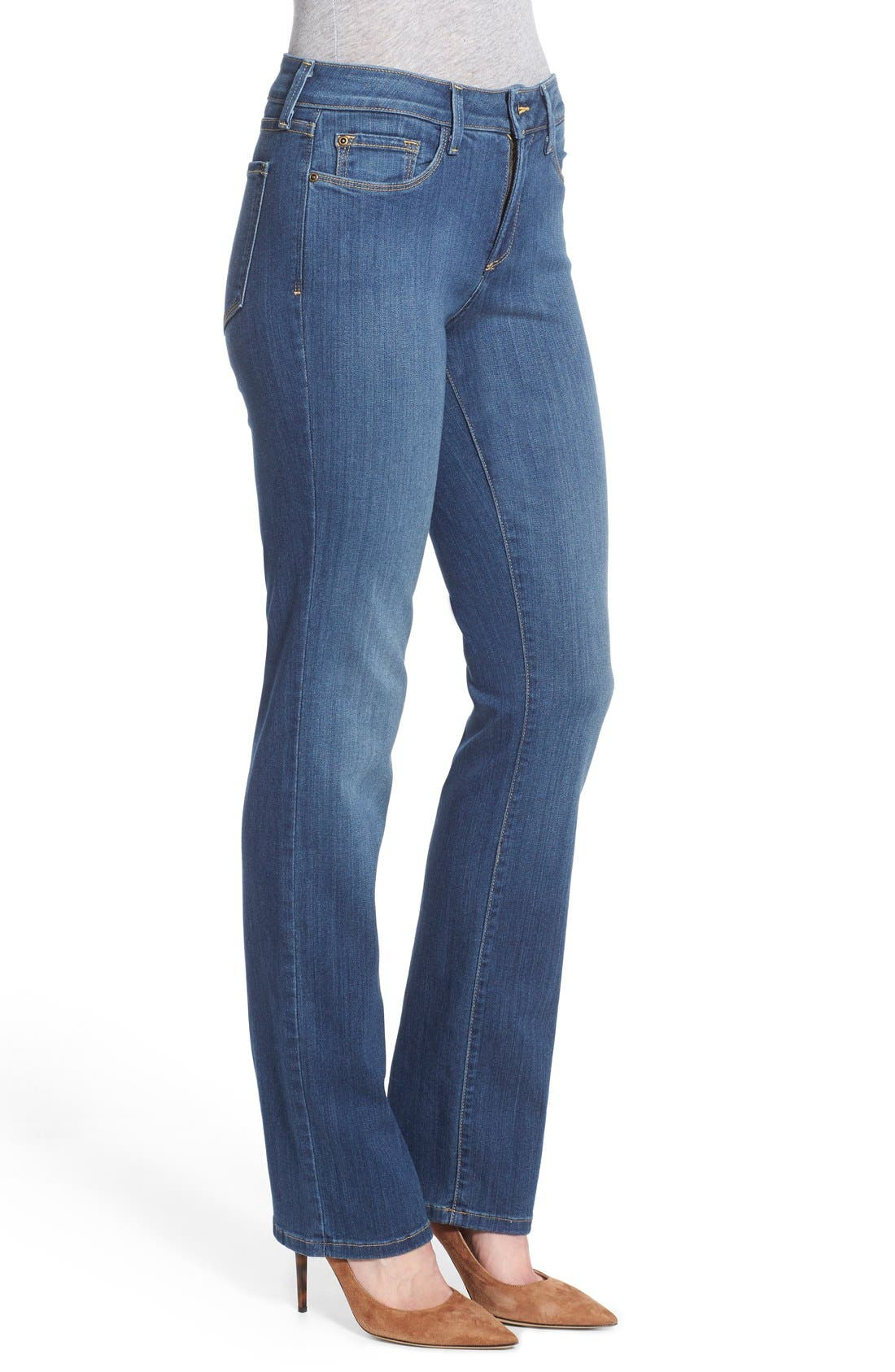 'Marilyn' Stretch Straight Leg Jeans,                             Alternate thumbnail 3, color,                             Anderson