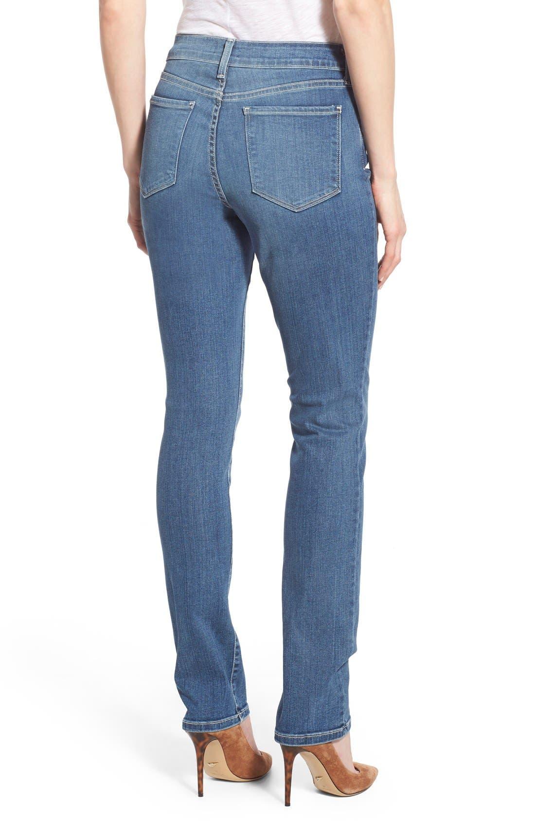 Alternate Image 2  - NYDJ 'Samantha' Stretch Slim Straight Leg Jeans (Heyburn) (Regular & Petite)