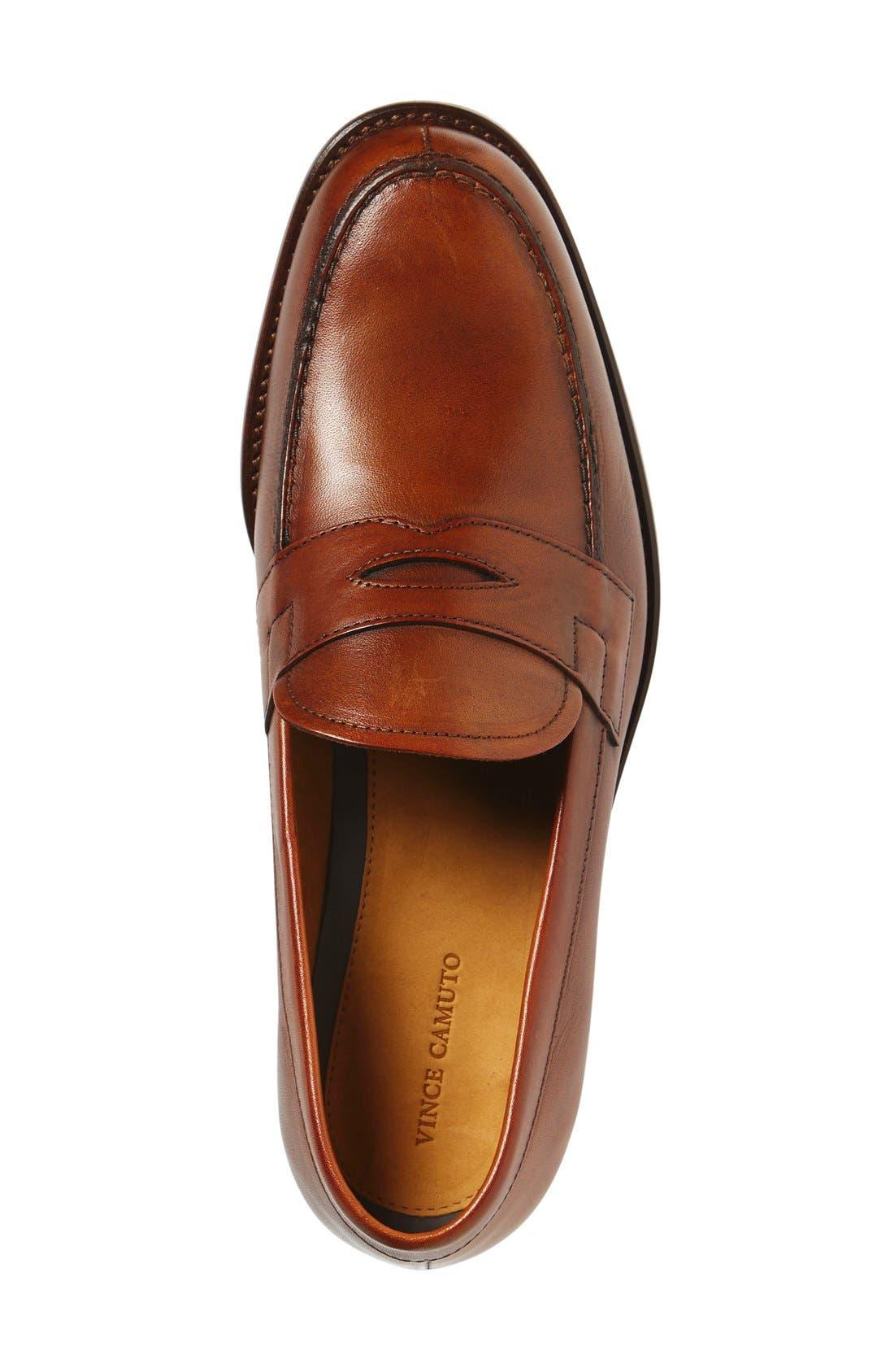 'Nacher' Loafer,                             Alternate thumbnail 4, color,                             Cognac Leather
