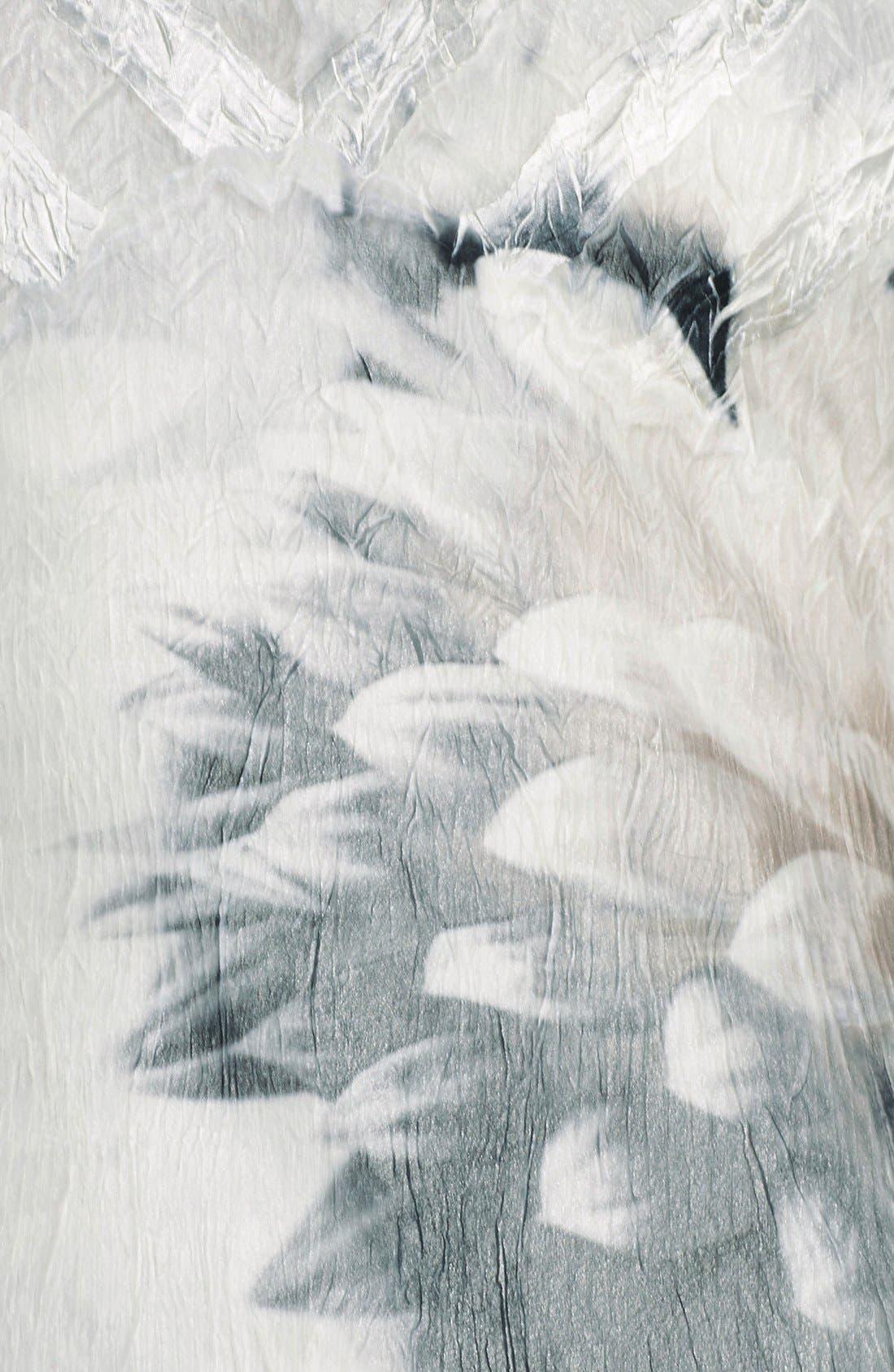 Alternate Image 6  - Komarov Floral Print Chiffon A-Line Dress (Regular & Petite)