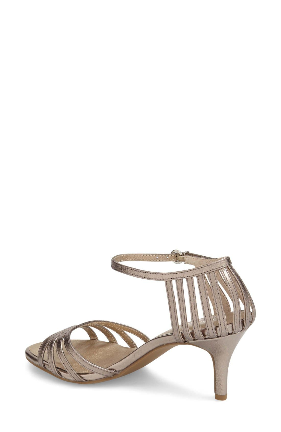 'Song and Dance' Ankle Strap Pump,                             Alternate thumbnail 2, color,                             Pewter Leather