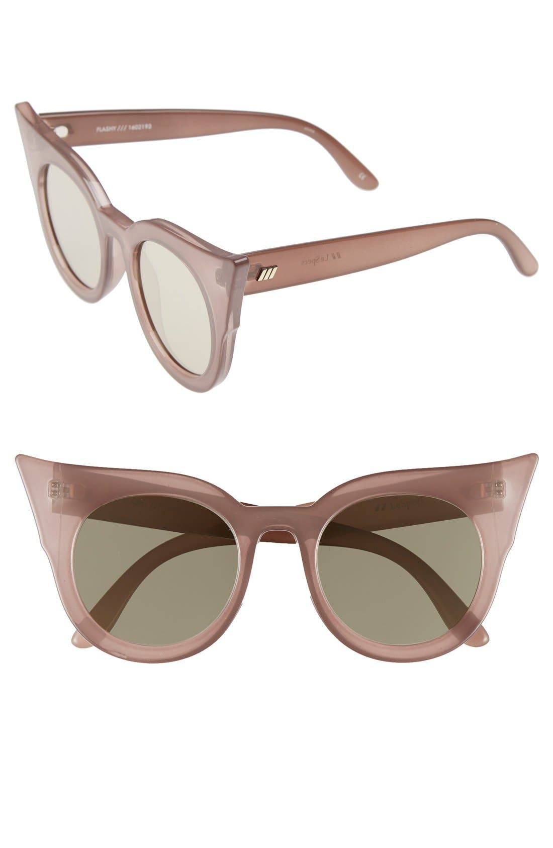 'Flashy' 51mm Sunglasses,                             Main thumbnail 1, color,                             Taupe