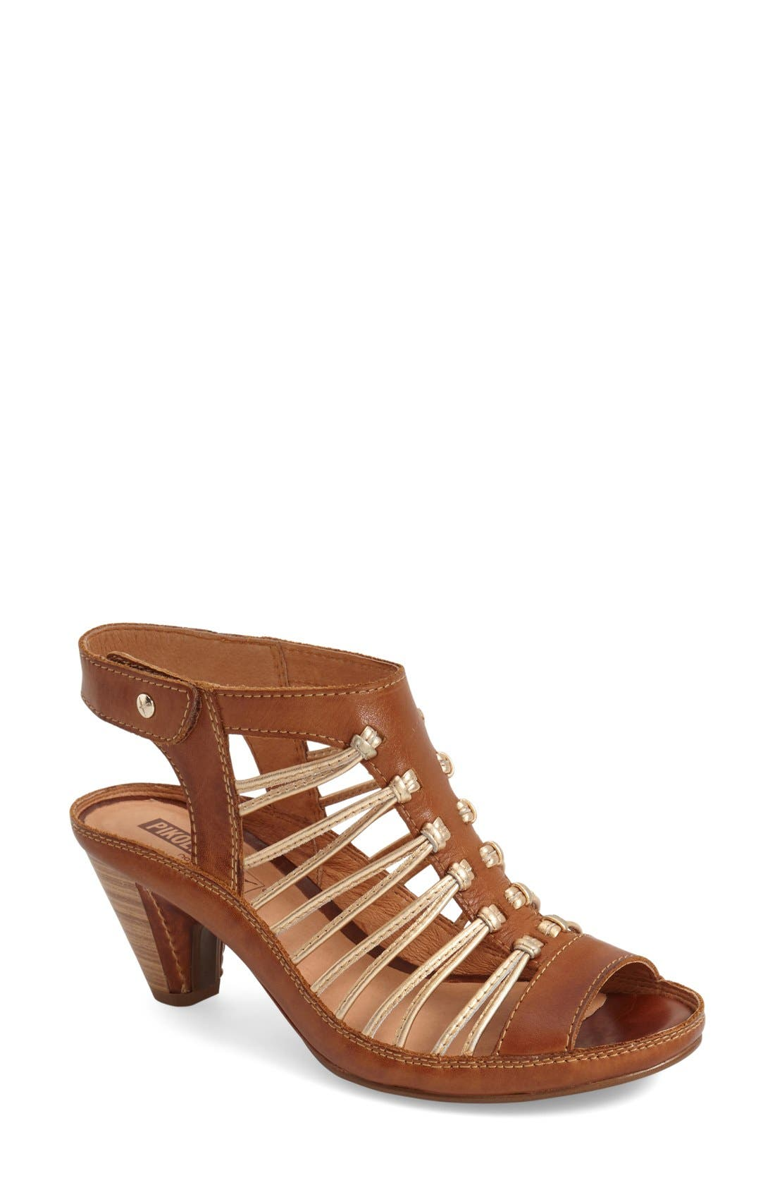 'Java' Sandal,                         Main,                         color, Brandy Leather
