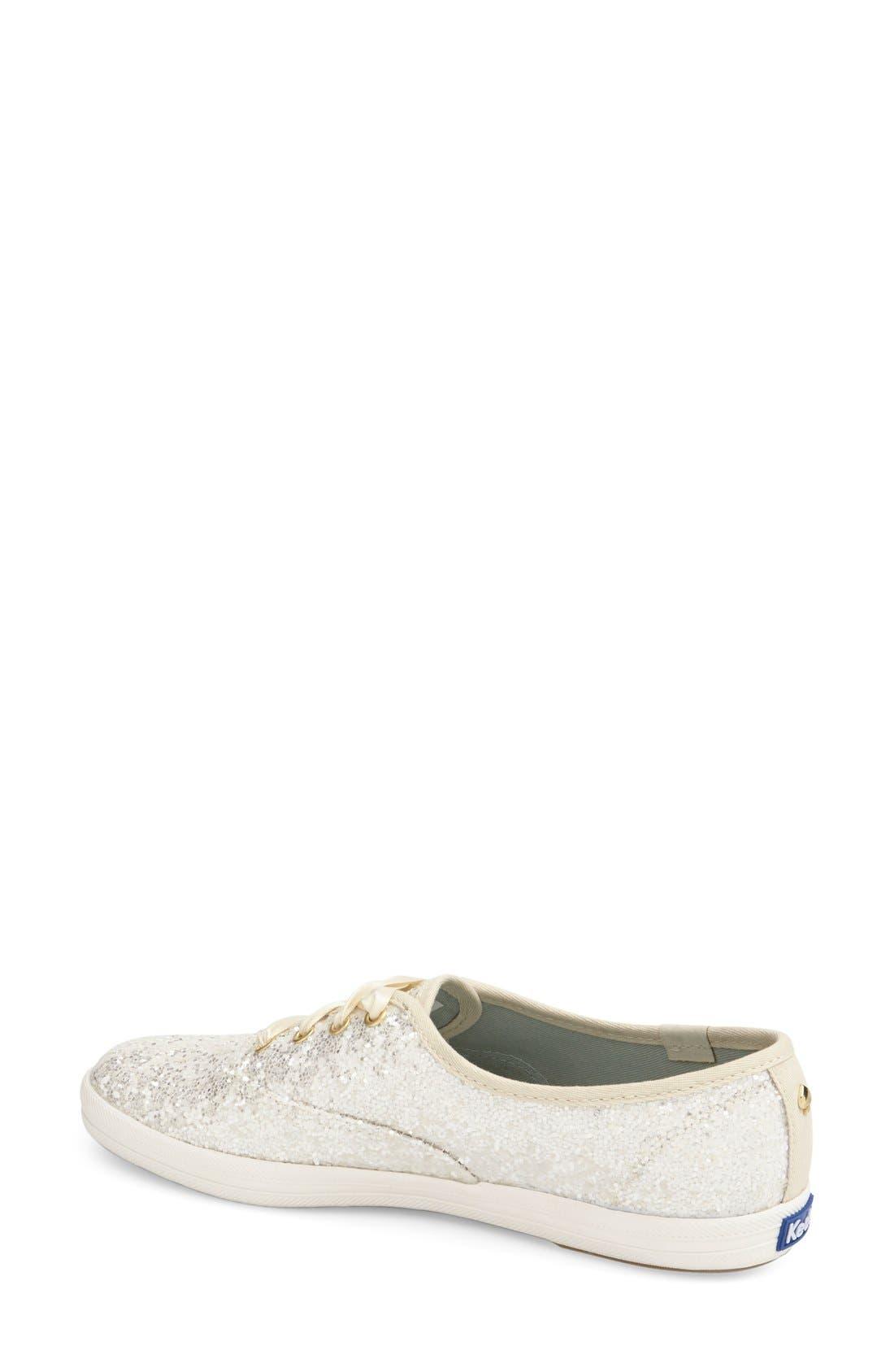 Alternate Image 2  - Keds® for kate spade new york glitter sneaker (Women)