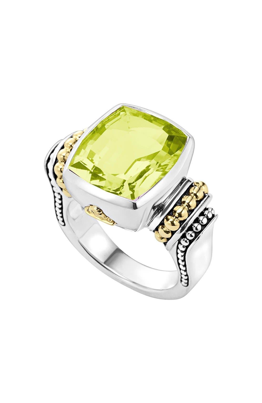 LAGOS Caviar Color Medium Semiprecious Stone Ring