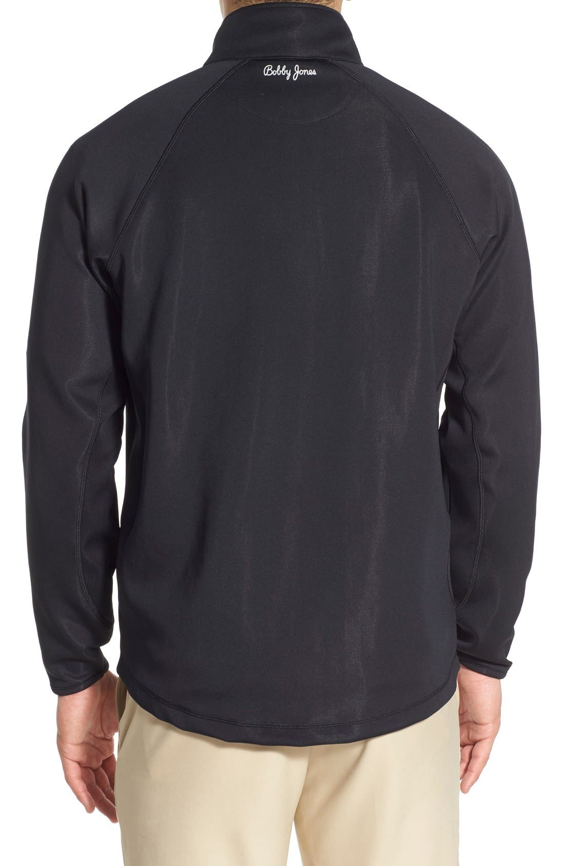 XH2O Crawford Stretch Quarter Zip Golf Pullover,                             Alternate thumbnail 2, color,                             Black