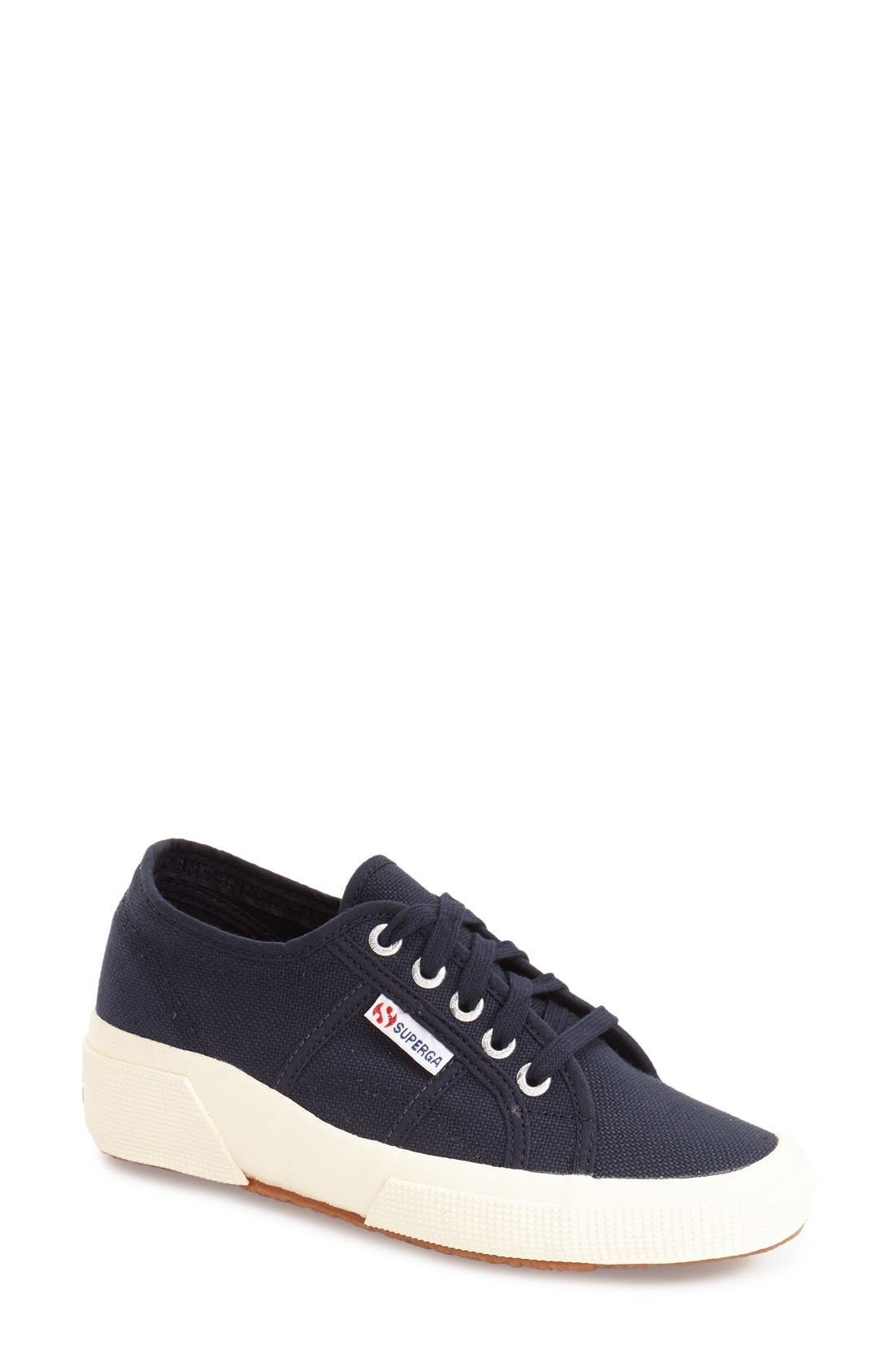 'Linea' Wedge Sneaker,                         Main,                         color, Navy
