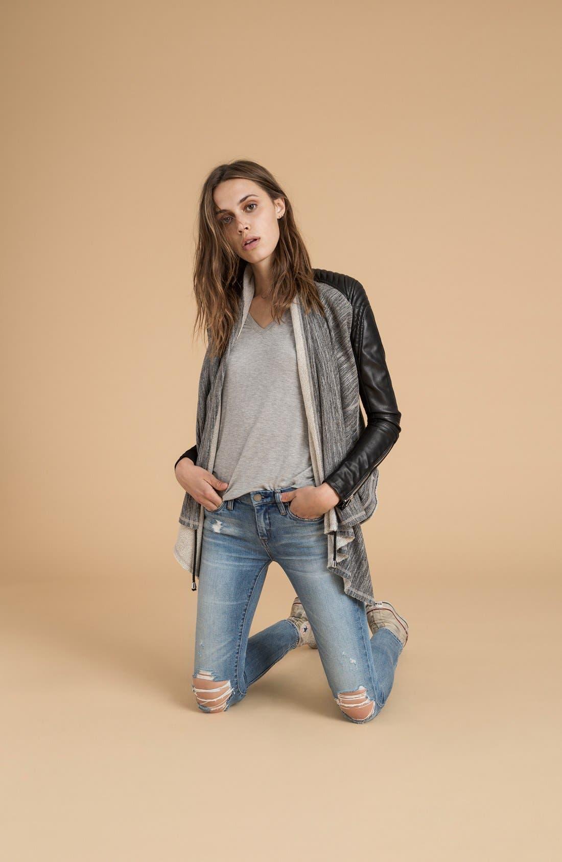 Alternate Image 6  - BLANKNYC 'Dating & Waiting' Drape Front Jacket