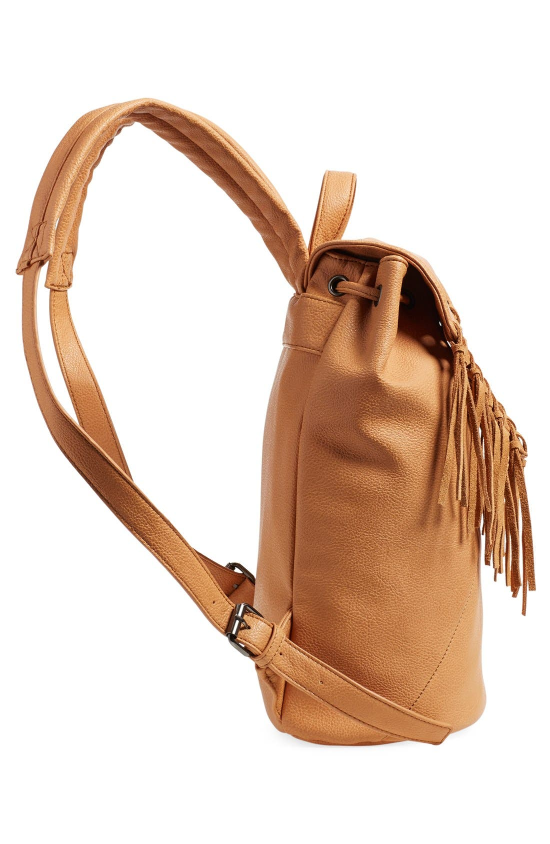 'Hartley' Faux Leather Backpack,                             Alternate thumbnail 5, color,                             Camel