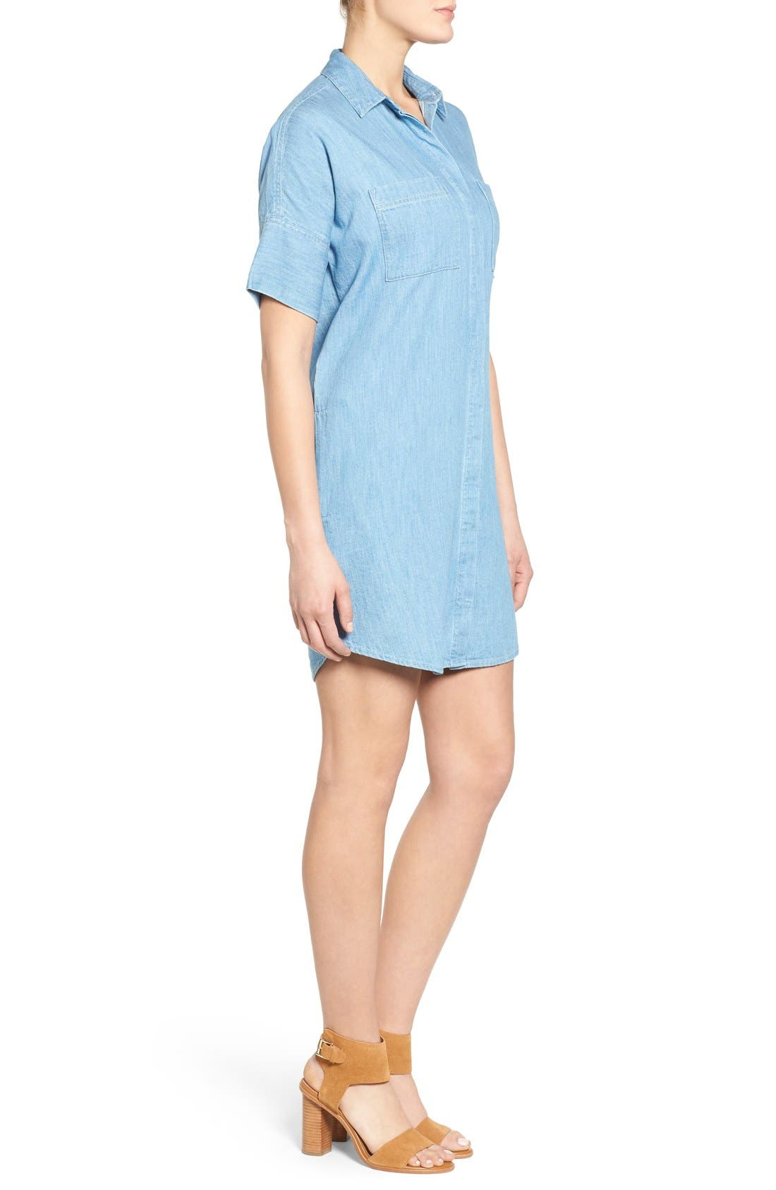 Alternate Image 3  - Madewell 'Courier' Denim Shirtdress