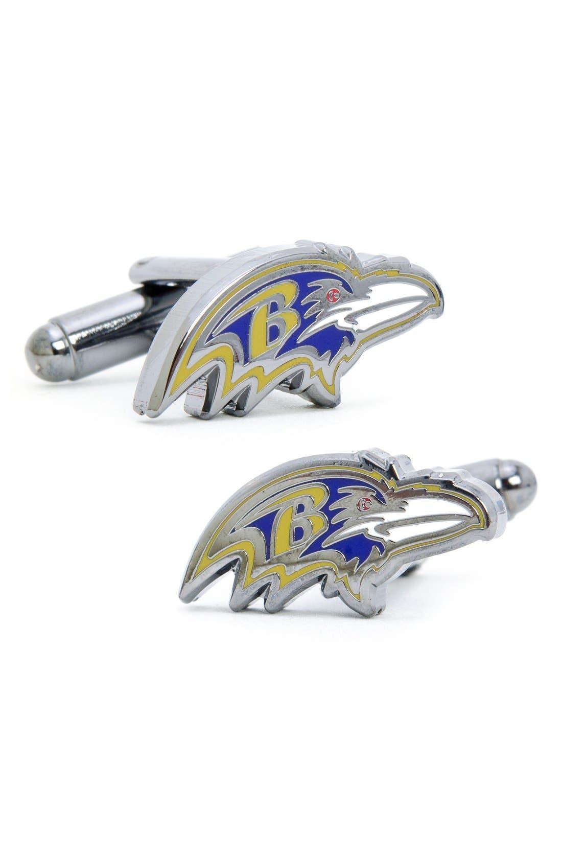 Main Image - Cufflinks, Inc. 'Baltimore Ravens' Cuff Links