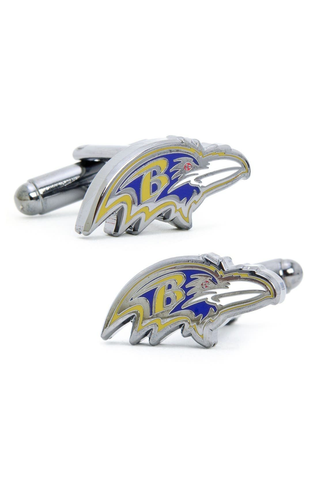 'Baltimore Ravens' Cuff Links,                         Main,                         color, Purple