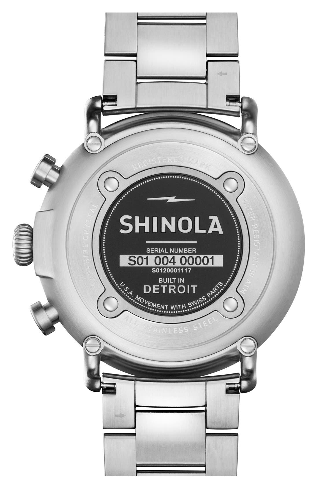 'The Runwell Chrono' Bracelet Watch, 47mm,                             Alternate thumbnail 2, color,                             Silver/ Cool Grey