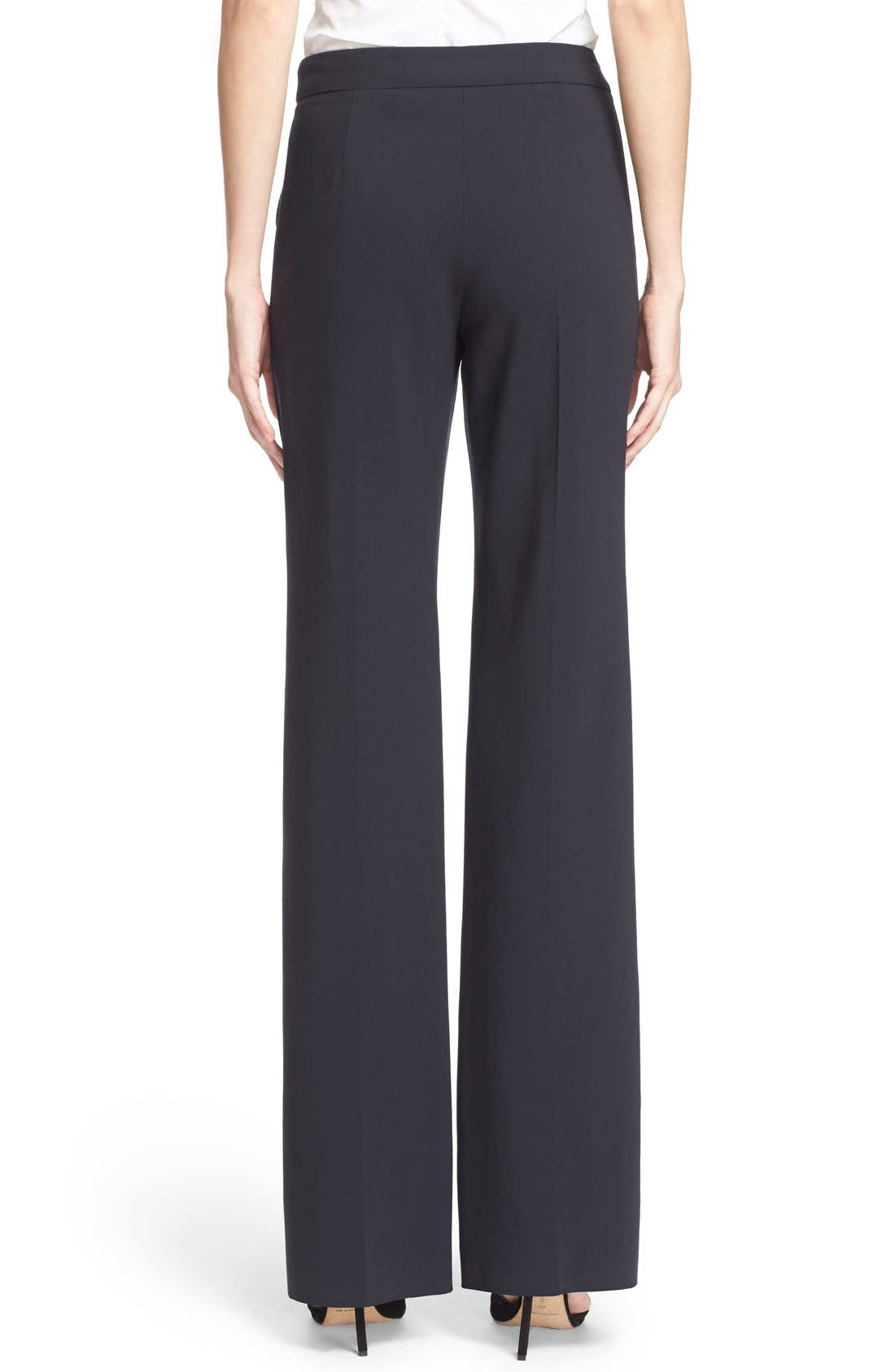 Alternate Image 2  - Armani Collezioni Straight Leg Featherweight Wool Pants