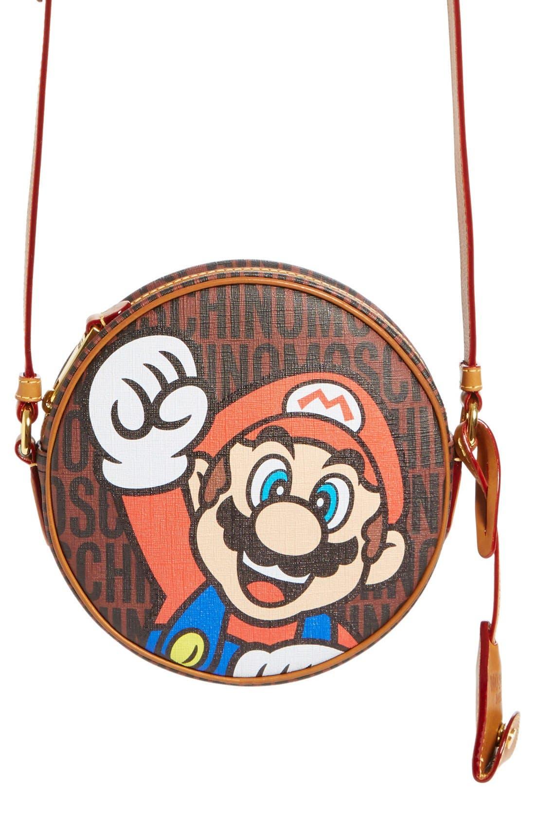 Alternate Image 1 Selected - Moschino 'Nintendo Super Mario Bros.®' Canteen Crossbody Bag
